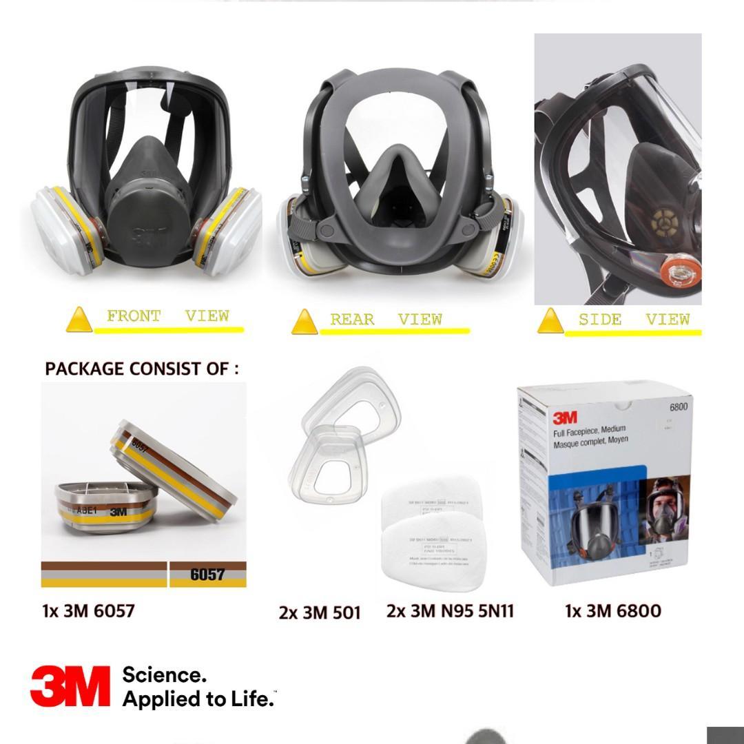ماسک شیمیایی تمام صورت سری 6000 کمپانی 3M