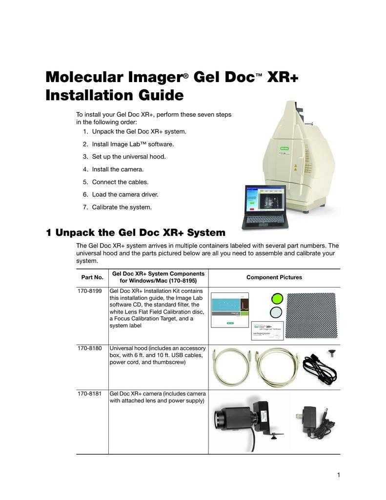 ژل داک یا سیستم تصویر برداری از ژل مدل XR+ کمپانی BIORAD آمریکا